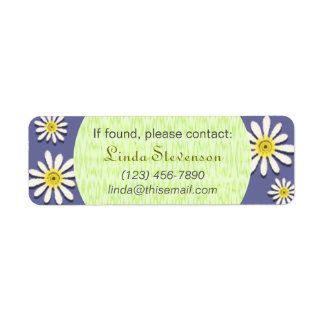 U-pick Color/ Whimsical Wildflower Daisy Sprinkles Return Address Label