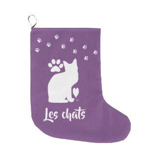 U-pick colour/ Custom Name Cat Stocking