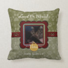 U Pick Colour/Personalized Pet Memorial Throw Pillow