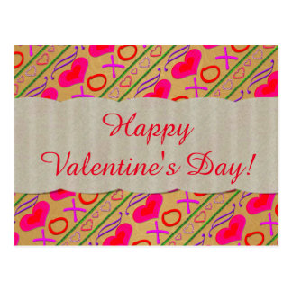 U Pick Colour/ Valentine's Day Hugs and Kisses Postcard