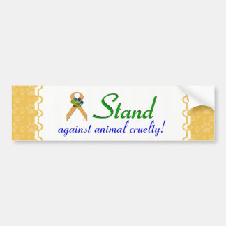 U-pick the Color/Animal Cruelty Prevention Ribbon Bumper Sticker