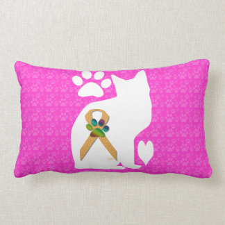 U-pick the Color/Animal Cruelty Prevention Ribbon Throw Pillow