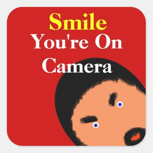 U R Being Watched! Sticker