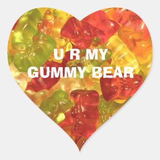 U R My Gummy Bear Stickers