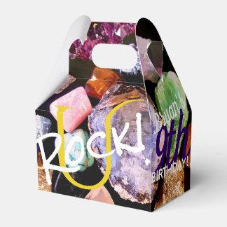 U Rock! Colorful Gemstone Favor Box Personalized