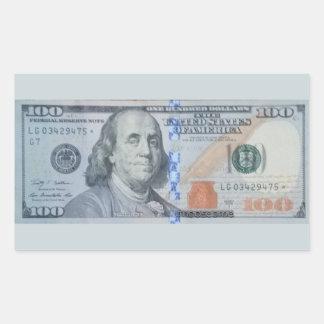 U.S. $100 Star Note LG03429475 Sticker