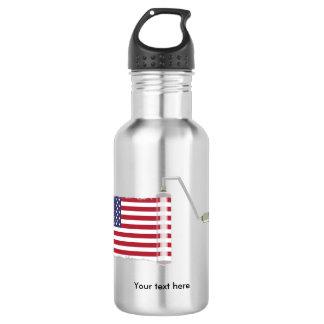 U.S.A. Flag Paint Roller 532 Ml Water Bottle