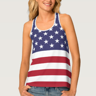 U.S.A. Flag Patriotic 4th Of July All-Over Print Tank Top