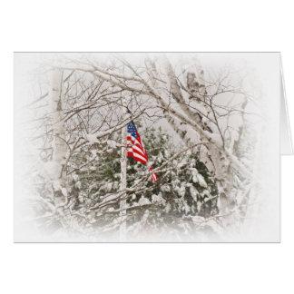 U.S.A. Flag Scene Card