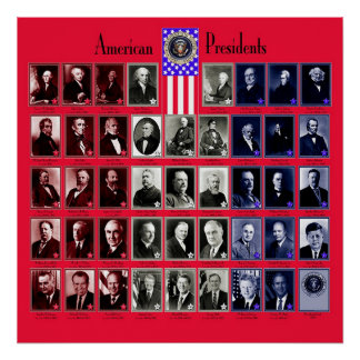 U.S.A. PRESIDENTS RED C/563 POSTER