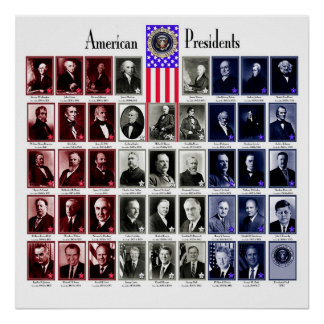 U.S.A. PRESIDENTS WHITE C/566 POSTER