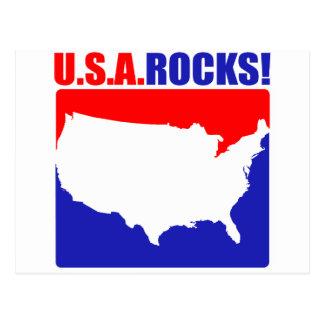 U.S.A. Rocks Postcard