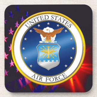 U.S. Air Force Hard plastic coaster
