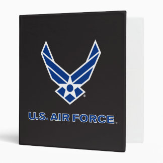U.S. Air Force Logo - Blue Vinyl Binder