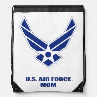 U.S. Air Force Mom Drawstring Backpack