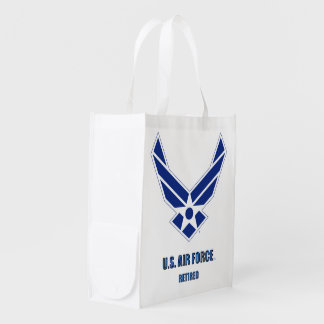 U.S. Air Force Retired Grocery Bag