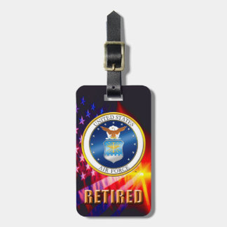 U.S. Air Force Retired Luggage Tags