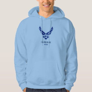 U.S. Air Force Retired Men's Basic Hooded Hoodie