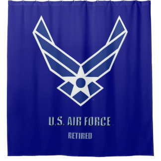 U.S. Air Force Retired Shower Curtain
