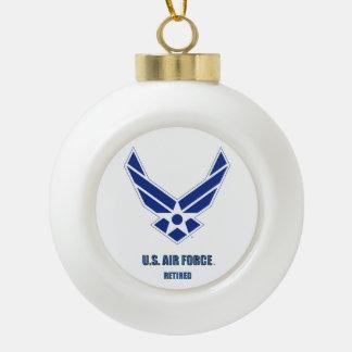 U.S. Air Force Retired Snowflake Framed Ornament