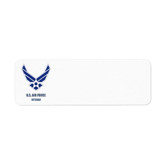 U.S. Air Force Vet Return Address Label