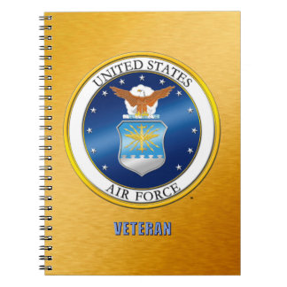U.S. Air Force Veteran Spiral Photo Notebook