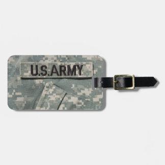 U.S. Army Luggage Tag w/ leather strap