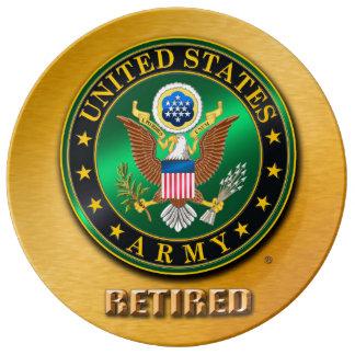 "U.S. ARMY RET 10.75"" Decorative Porcelain Plate"