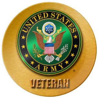 "U.S. ARMY VET 10.75"" Decorative Porcelain Plate"