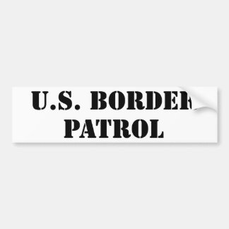 U.S. Border Patrol (text) Bumper Sticker