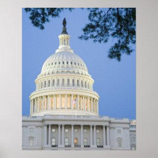 U.S. Capitol at dusk, Washington D.C. (District Poster