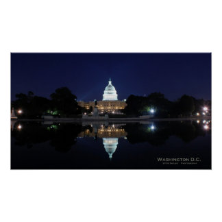 U.S. Capitol - Night Poster