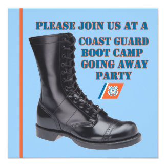 U.S. Coast Guard Going Away Party Invitation