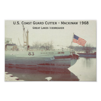 U.S Coast Guard Mackinaw Icebreaker Poster