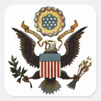 U.S. COAT OF ARMS SQUARE STICKER