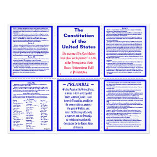 U.S. Constitution Pocket Pamphlet / Bookmark Flyer