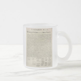U.S. Declaration of Independence 1823 Facsimile Frosted Glass Coffee Mug