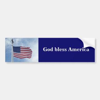 U.S. flag bumper sticker
