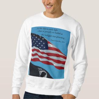 U.S. flag & escerpt of National Anthem sweatshirt