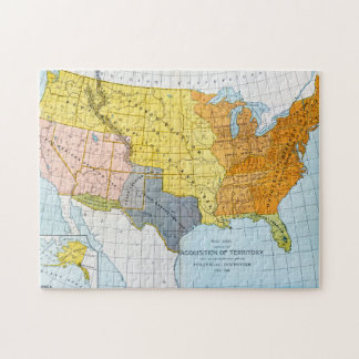 U.S. MAP, 1776-1884 JIGSAW PUZZLE