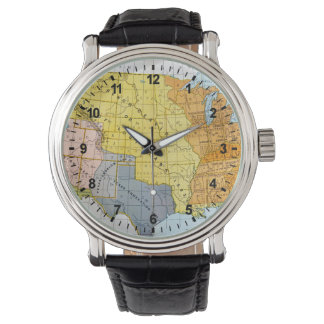 U.S. MAP, 1776-1884 WRISTWATCH