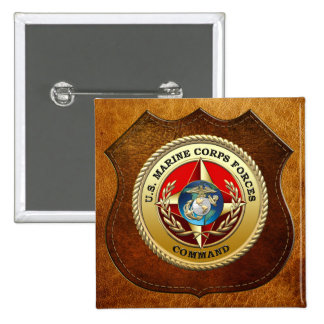 U.S. Marine Corps Forces Command (MARFORCOM) [3D] 2 Inch Square Button