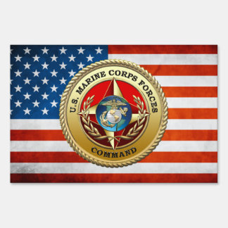 U.S. Marine Corps Forces Command (MARFORCOM) [3D] Sign