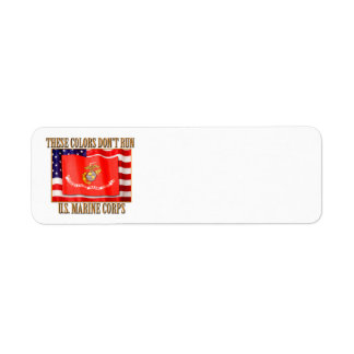 U.S. Marine Corps Return Address Label