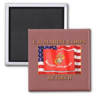U.S. Marine Corps Square Magnes Square Magnet