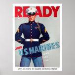 "U.S. Marine Corps Vintage ""Ready"" Poster"