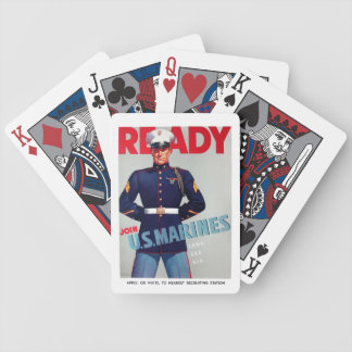"U.S. Marine Corps Vintage ""Ready"" Poster Bicycle Playing Cards"