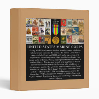 U.S. Marine Corps World War 1 Recruiting Posters Vinyl Binder