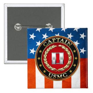 U.S. Marines: Captain (USMC Capt) [3D] 2 Inch Square Button