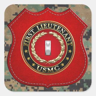 U.S. Marines: First Lieutenant (USMC 1stLt) [3D] Square Sticker